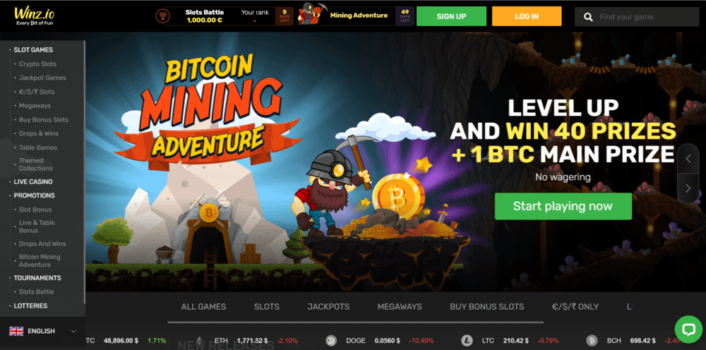 Winz Casino Website
