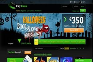 playfrank weekly halloween casino bonus