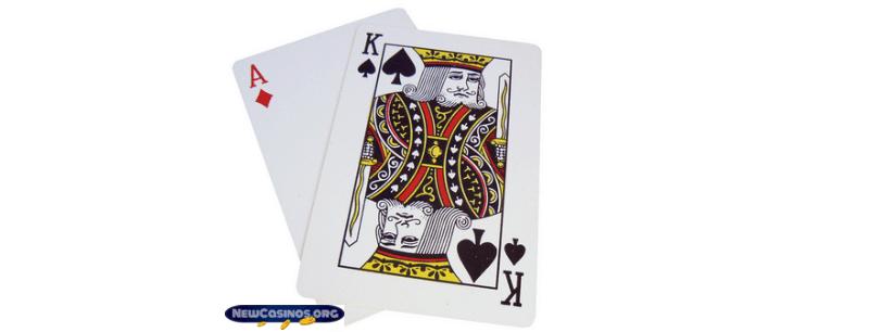 Ace & King equals Blackjack (21)