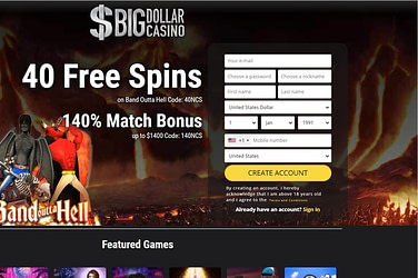 Big Dollar Casino Free Spins Bonus