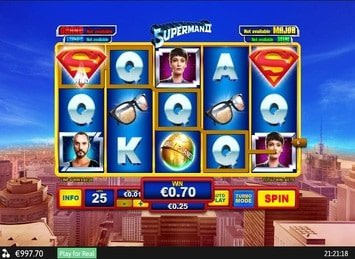 Superman: The Movie Free Spins