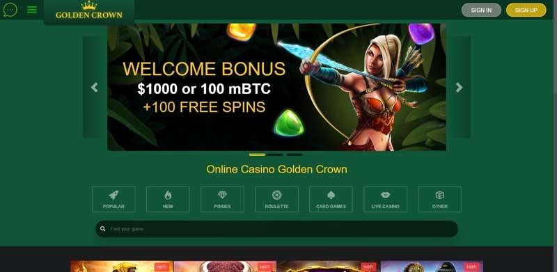Golden Crown Casino Website