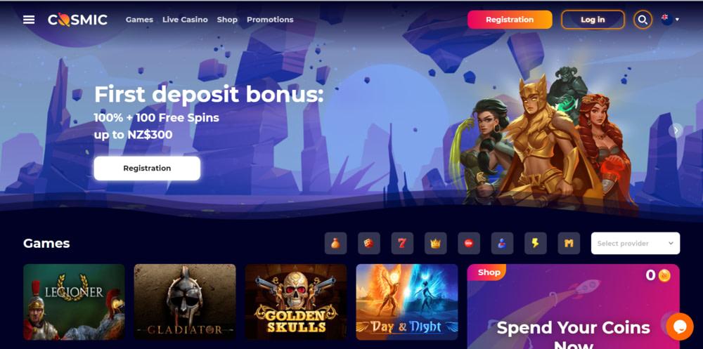 CosmicSlot Casino Website
