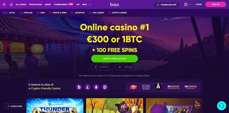 Bao Casino Website