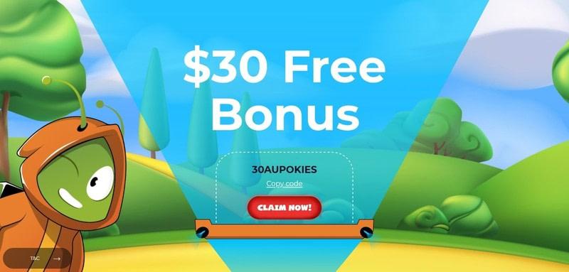 Aussie Play $30 Free Chips