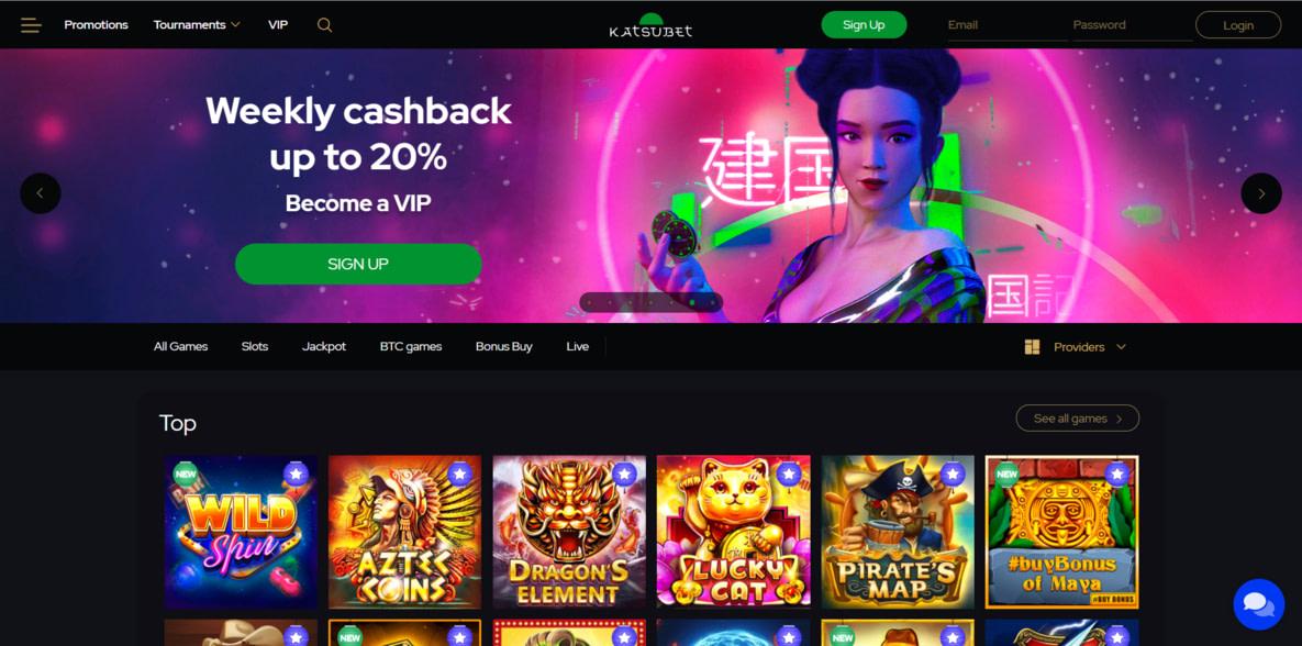 Katsubet Casino Website