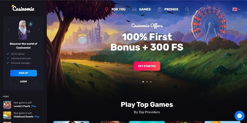 Casinomia Website