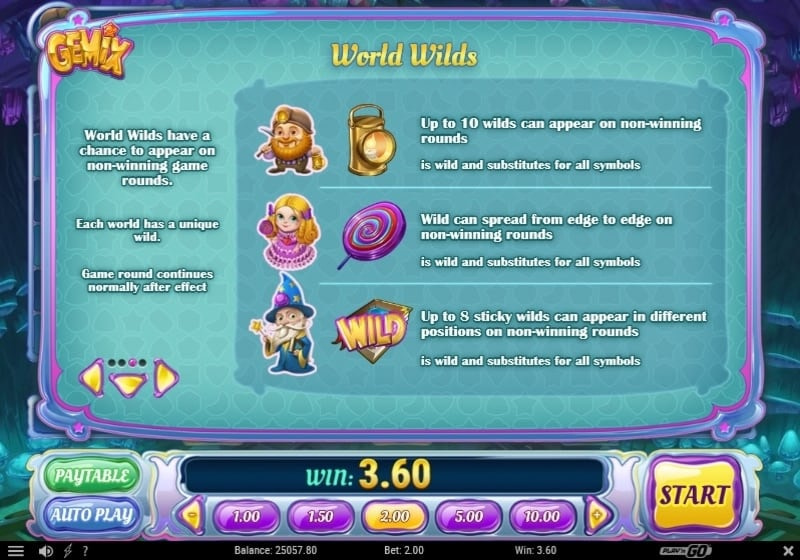 World Wilds Features
