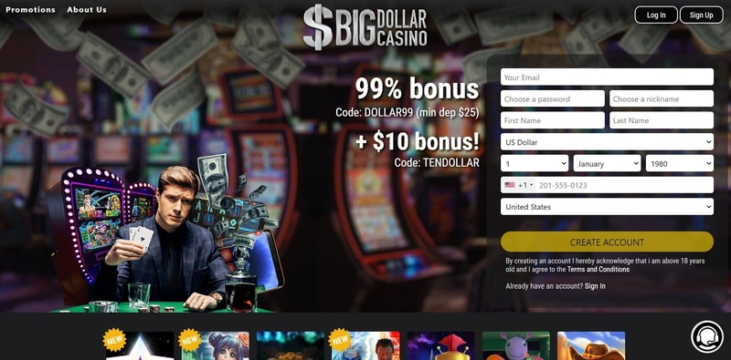 Big Dollar Casino Website