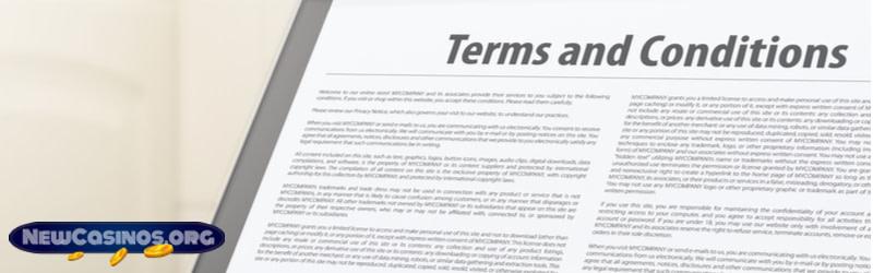 Read the Bonus Terms & Conditions