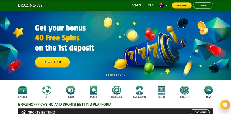 Brazino777 Casino Website