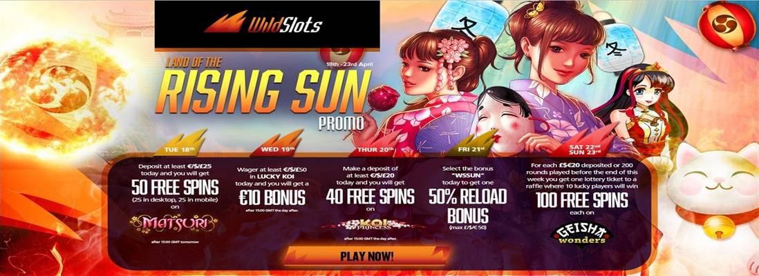 Wild Slots Rising Sun Promotion