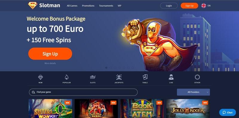 Slotman Casino Website